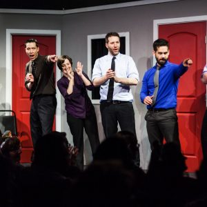 Improv Comedy Performers At Made Up Theatre